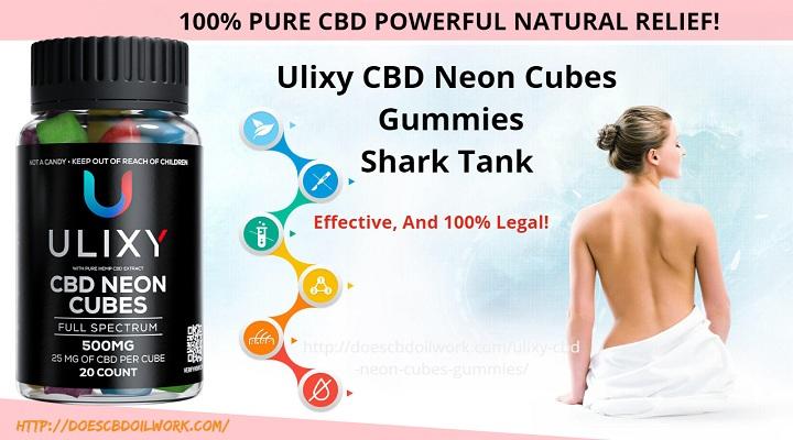 Ulixy CBD Neon Cubes Gummies